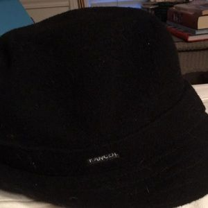 NWOT KANGOL Side Logo Black Wool Bucket Hat Sz. Sm